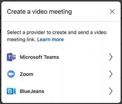 linkedin video chat integration zoom - create video meeting