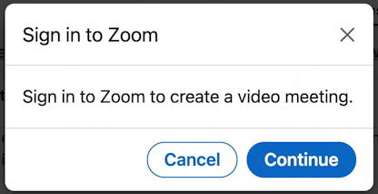 linkedin video chat integration zoom - sign in to zoom