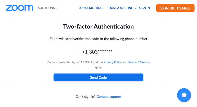 linkedin video chat integration zoom - two factor authentication