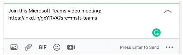 linkedin instant microsoft teams meeting link