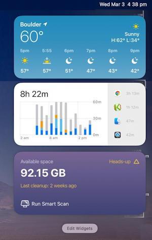 mac macos 11 - control center - weather widget - location fixed