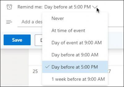 outlook.com calendar - basic event entry - birthday reminder