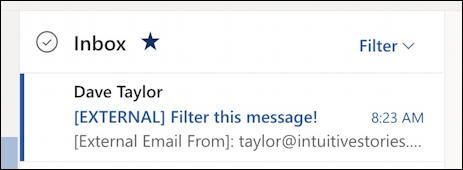 outlook.com - create email filter - inbox
