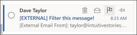 outlook.com - create email filter - shortcut icons