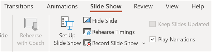 microsoft powerpoint presentation - record slide show