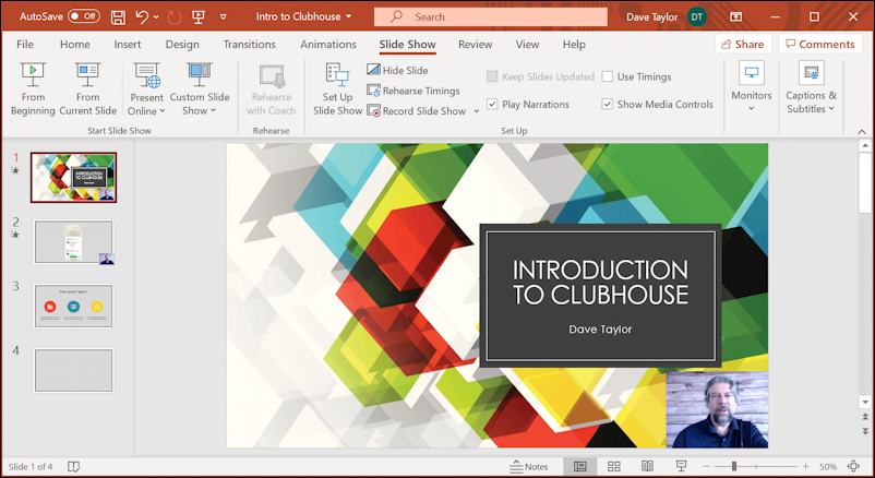 microsoft powerpoint presentation - record slide show - slide show recorded
