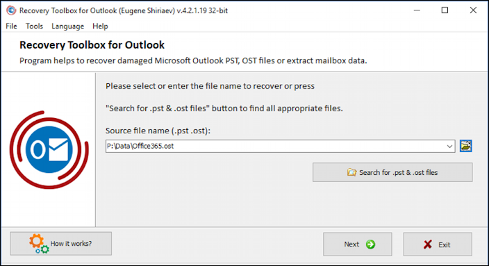 recovery toolbox for outlook - find pst ost files