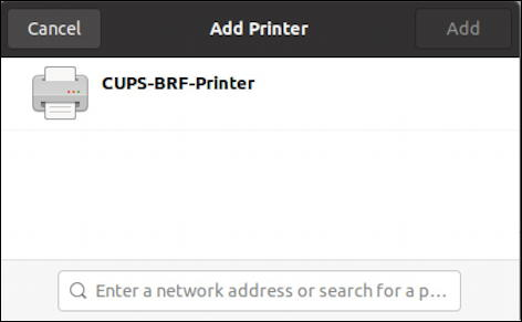 ubuntu linux - settings - printers - cups printer