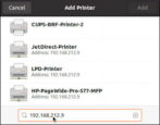 linux how to add wireless ip wifi printer