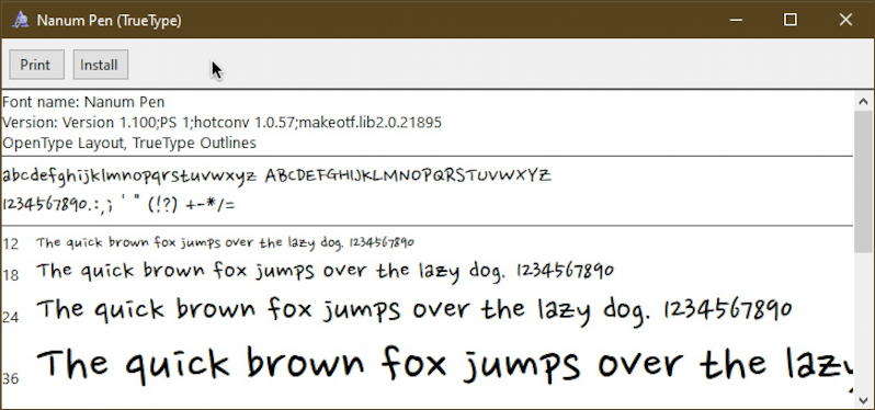 win10 pc font typeface installer utility