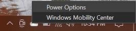 win10 pc battery icon taskbar - right click