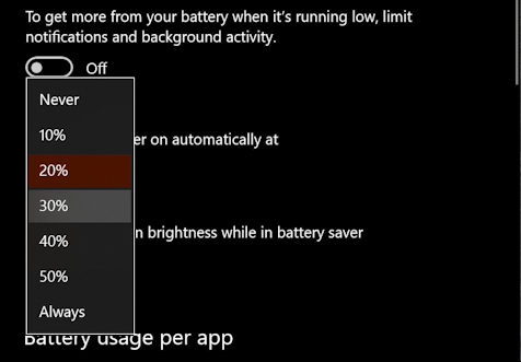 when should battery saver be enabled?