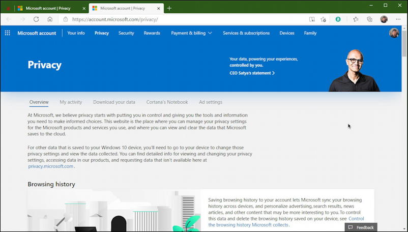 windows 10 win10 privacy dashboard