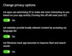 windows 10 privacy dashboard settings