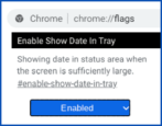chromeos chromebook add date to shelf tray taskbar how to