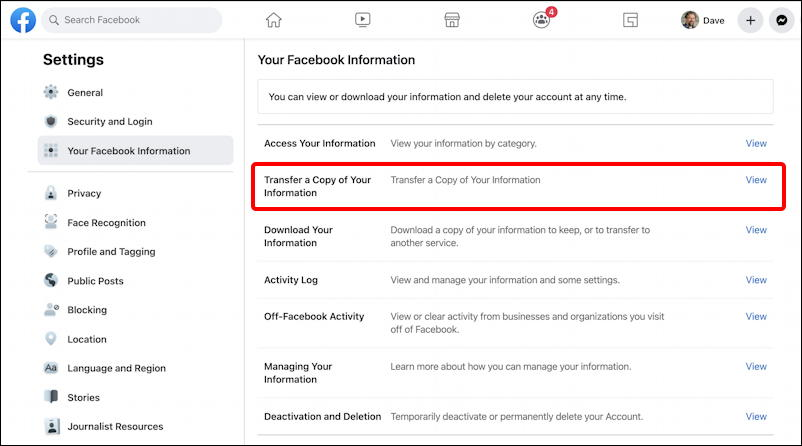 facebook export google docs wordpress - posts - settings