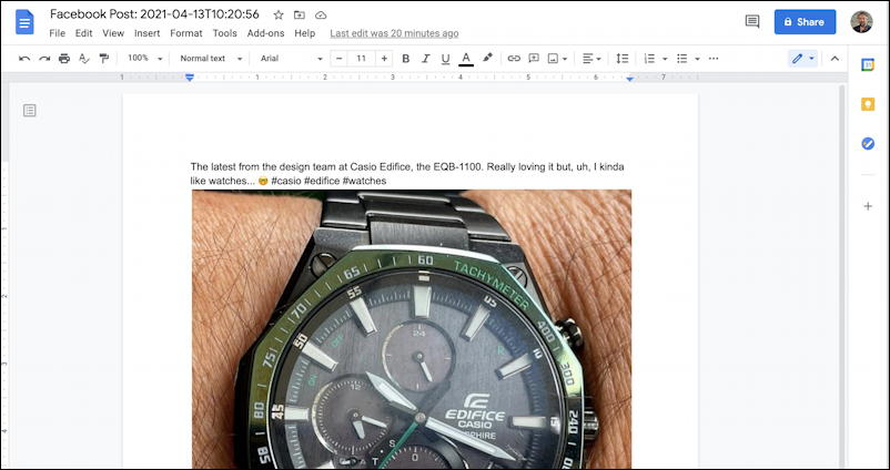 transfer facebook posts photos to google drive wordpress - google docs post