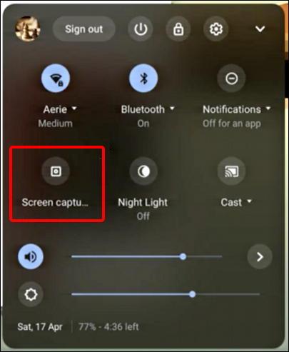 chromebook chromeos - enable screen capture screenshot - shortcut