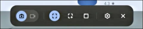 chromebook chromeos - enable screen capture screenshot - toolbar