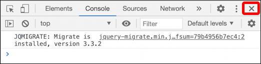 close debug window - google chrome