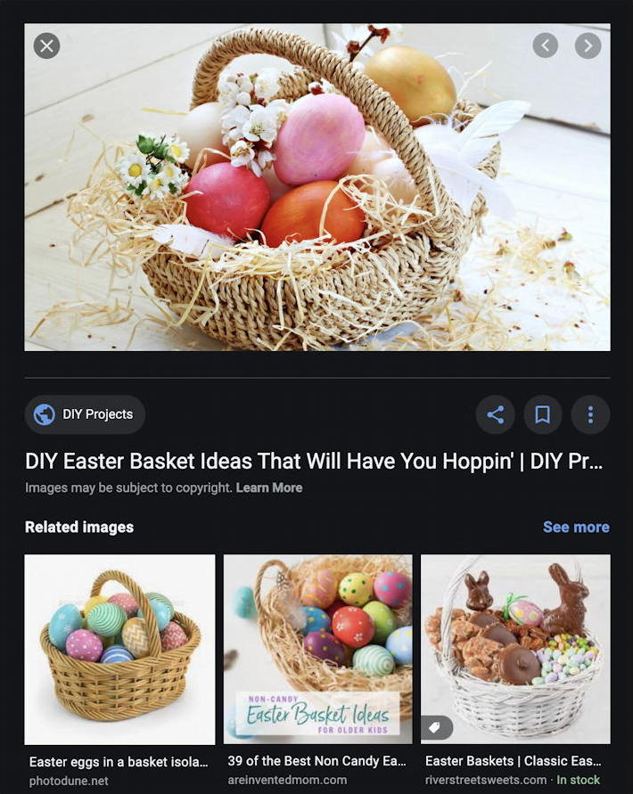 google image search - easter basket - preview