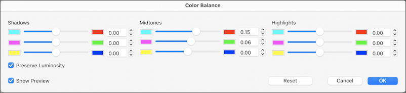 mac graphic converter color adjust sliders