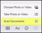 iphone how to scan documents with phone notes app ios14