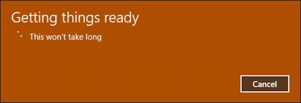 win10 systemreset fresh start getting things ready