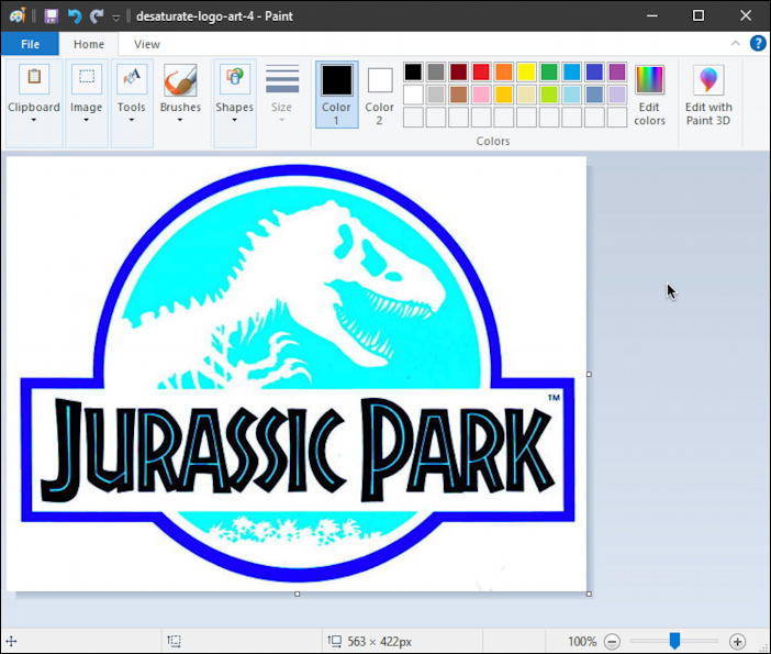jurassic park logo with inverted colors