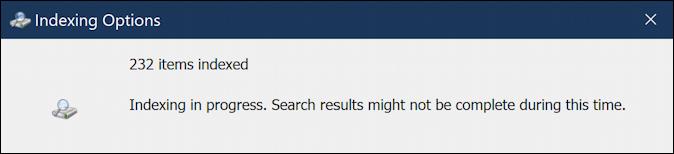 win10 windows search database rebuild - rebuilding