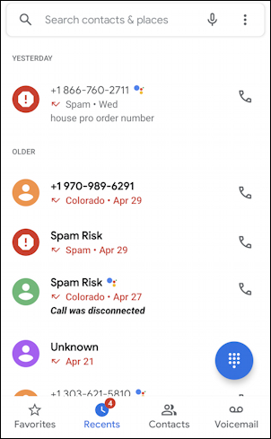 android phone app spam calls