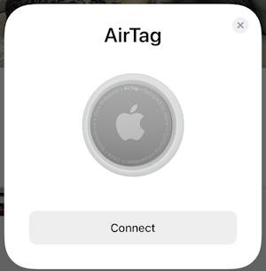 set up apple airtag - step 1