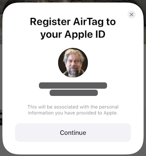 register apple airtag to your apple id icloud