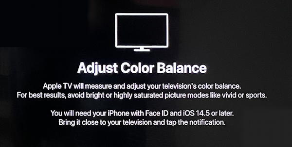 appletv adjust color balance