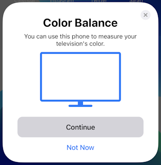 iphone ios appletv color balance calibration - color balance