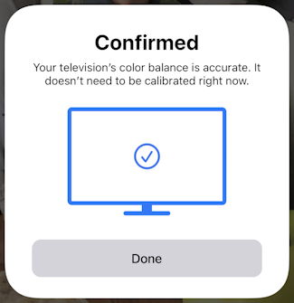 iphone ios appletv color balance calibration - confirmed calibrated
