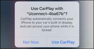 chrysler dodge uconnect - allow wireless carplay