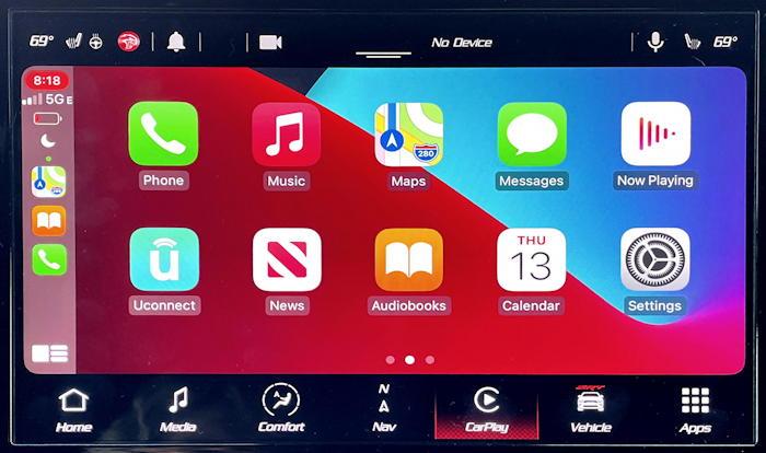 chrysler dodge uconnect - wireless apple carplay iphone ios14.5