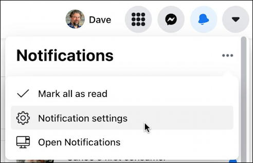 facebook notifications window - mark all read