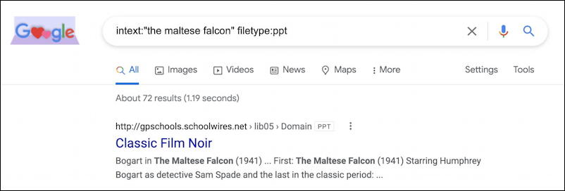 google search ppt powerpoint slide decks with the maltese falcon