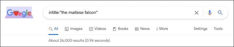 google advanced search intitle