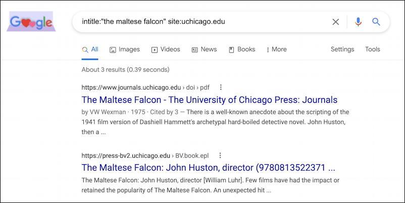 advanced google search operators intitle site uchicago