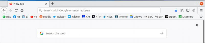 firefox linux favorites toolbar imported bookmarks