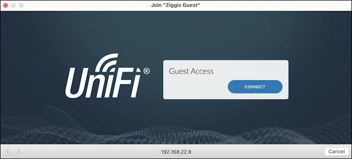 wifi network secondary window login accept terms