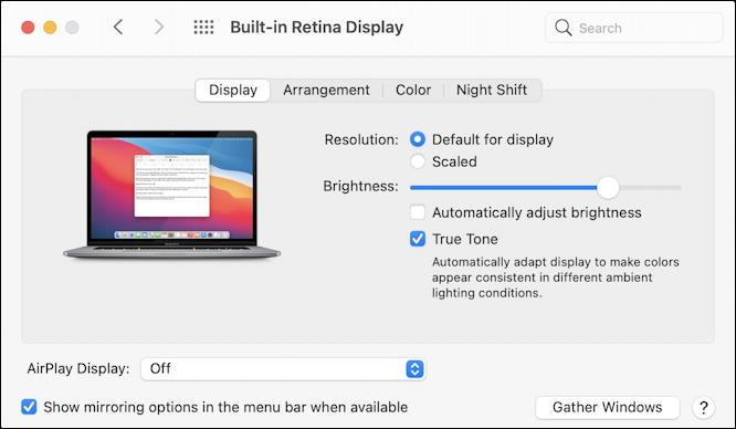 macos 11 - system preferences - displays - two displays -