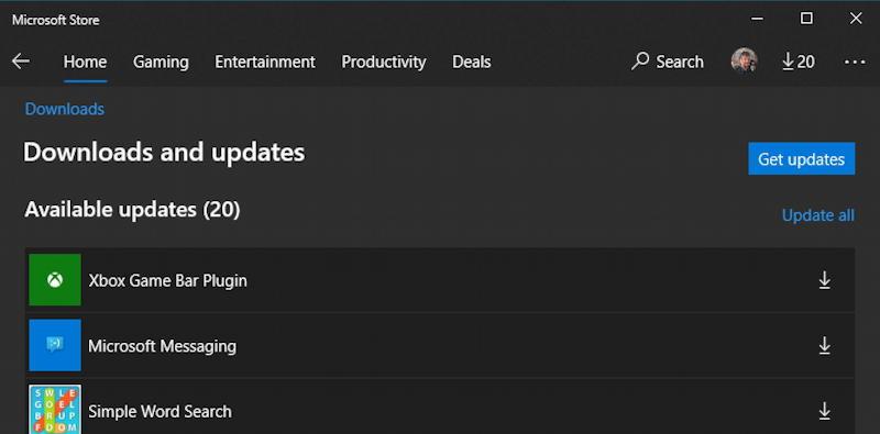 windows 10 win10 microsoft store - 20 updates