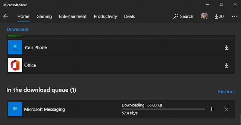 windows 10 win10 microsoft store - downloading program update