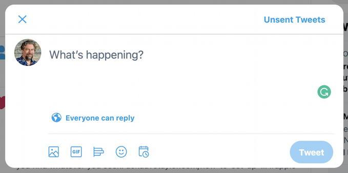 basic twitter post window