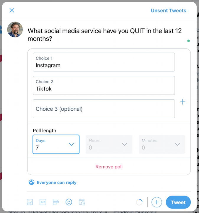 how to create twitter poll 2