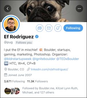 ef rodriguez - @pug - profile